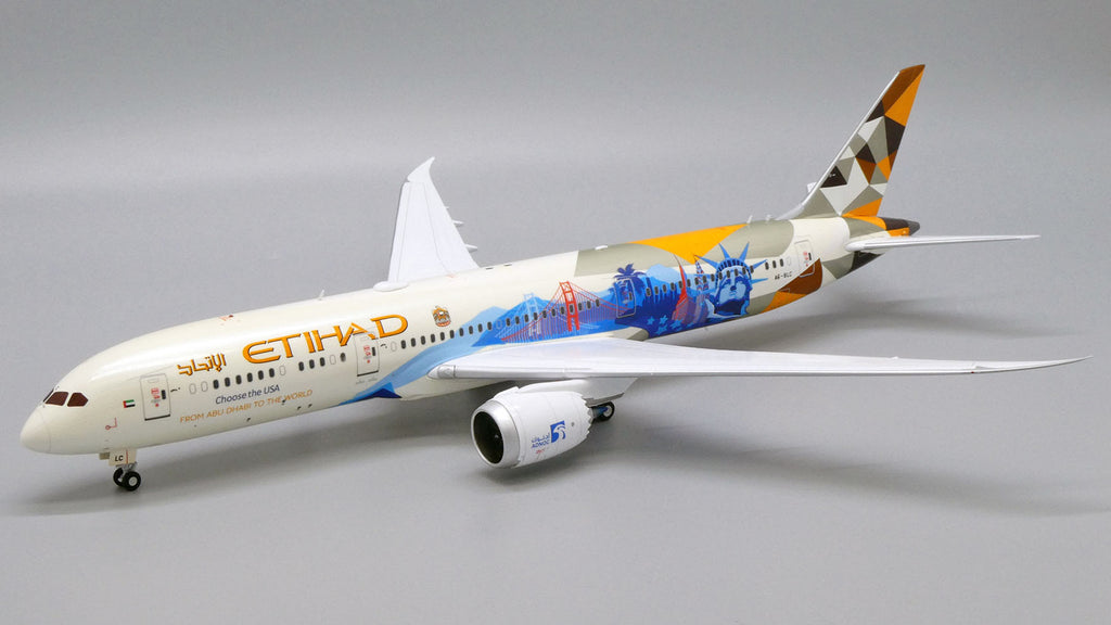 Etihad Airways Boeing 787-9 A6-BLC Choose The USA JC Wings JC2ETD425 XX2425 Scale 1:200