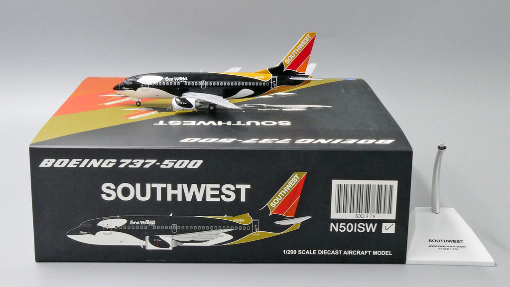 Southwest Boeing 737-500 N501SW Shamu Ohio JC Wings JC2SWA378 XX2378 Scale 1:200