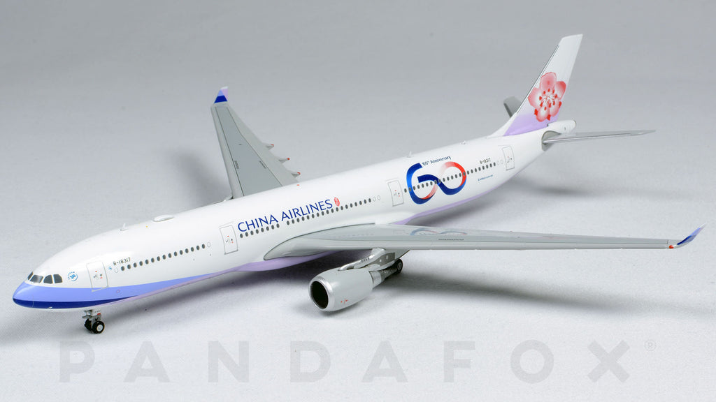 China Airlines Airbus A330-300 B-18317 60th Anniversary JC Wings JC4CAL182 XX4182 Scale 1:400