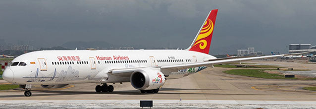 Hainan Airlines Boeing 787-9 Flaps Down B-1540 Hainan Free Trade Port JC Wings JC4CHH283A XX4283A Scale 1:400