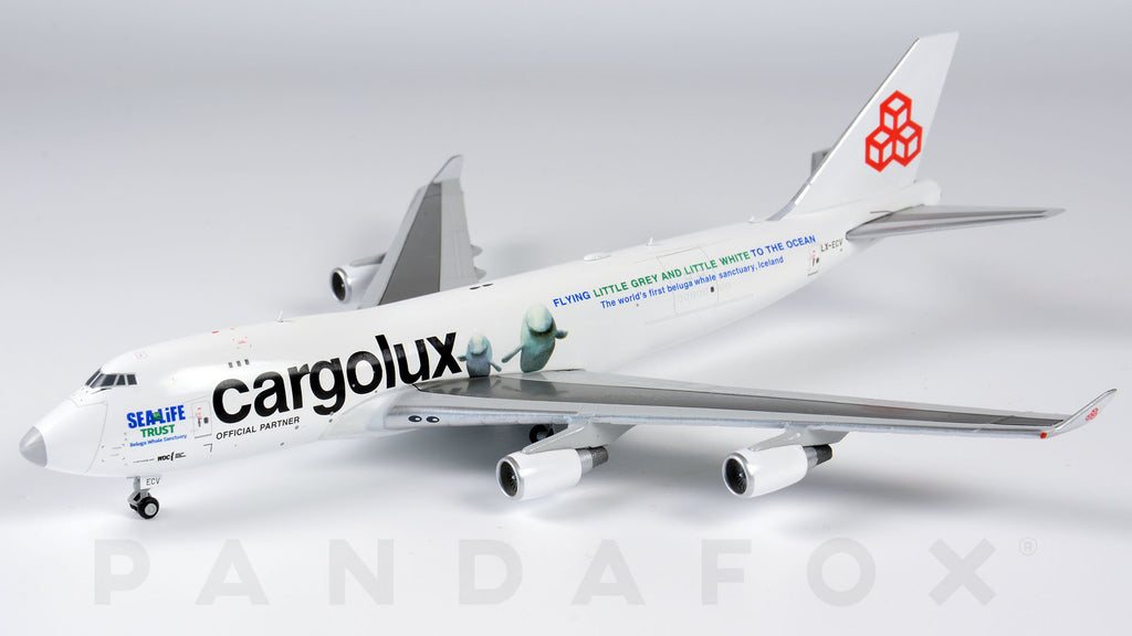 Cargolux Boeing 747-400F LX-ECV Sea Life Trust JC Wings JC4CLX205 XX4205 Scale 1:400