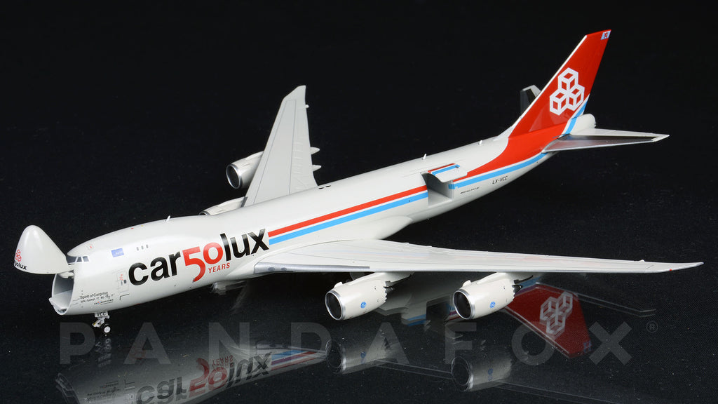 Cargolux Boeing 747-8F Interactive LX-VCC 50 Years JC Wings JC4CLX356C XX4356C Scale 1:400
