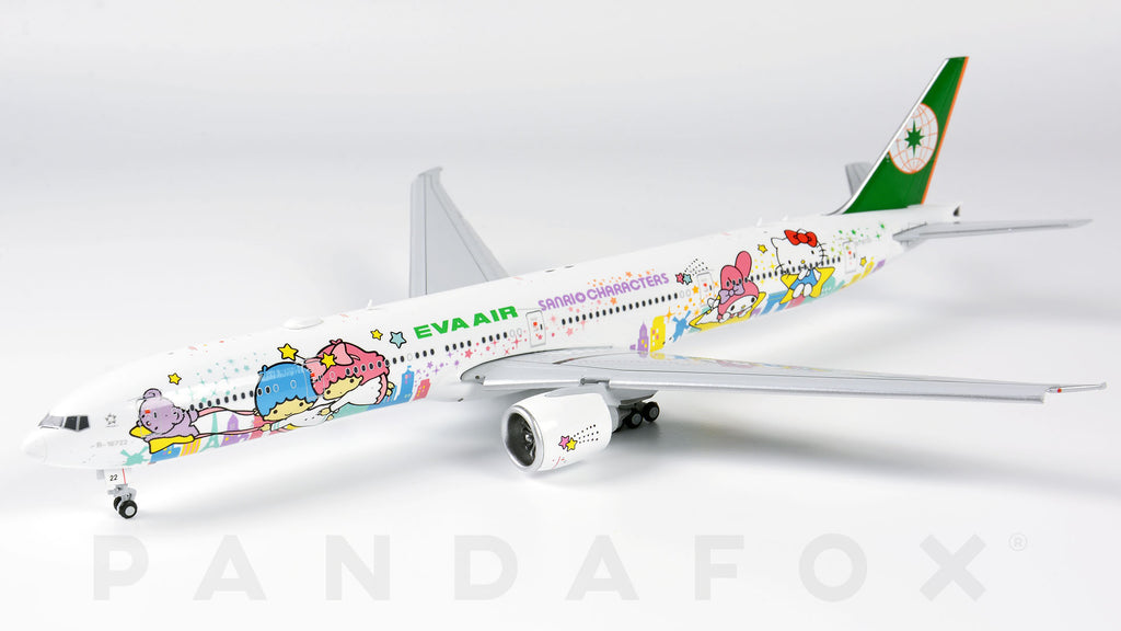 EVA Air Boeing 777-300ER Flaps Down B-16722 Sanrio Characters JC Wings JC4EVA031A XX4031A Scale 1:400