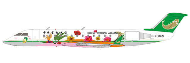 China Yunnan Airlines Bombardier CRJ200 B-3070 JC Wings LH2CYH184 LH2184 Scale 1:200