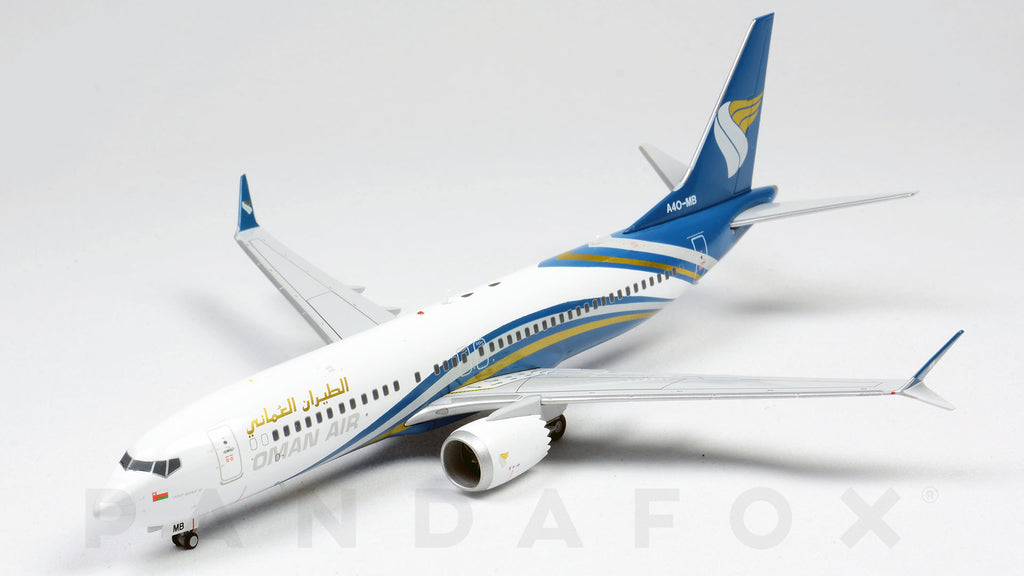 Oman Air Boeing 737 MAX 8 A4O-MB JC Wings LH2OMA123 LH2123 Scale 1:200