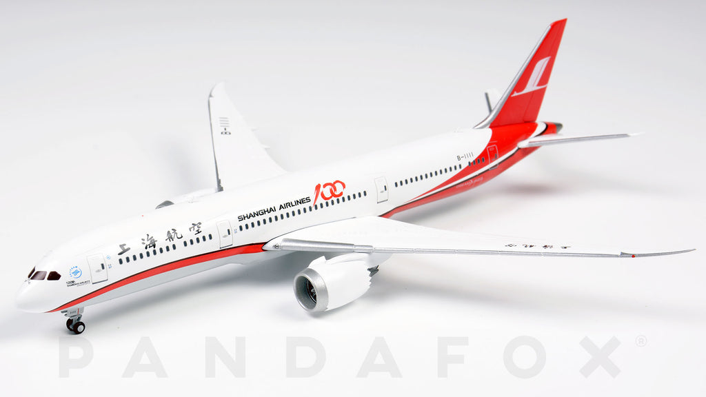 Shanghai Airlines Boeing 787-9 B-1111 100th Shanghai Aircraft JC Wings LH4CSH128 LH4128 Scale 1:400