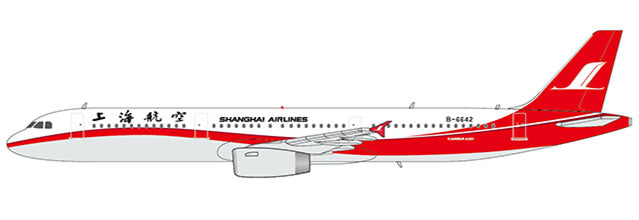 Shanghai Airlines Airbus A321 B-6642 JC Wings LH4CSH142 LH4142 Scale 1:400