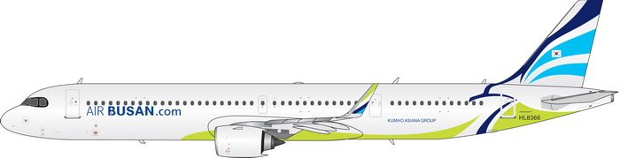 Air Busan Airbus A321neo HL8366 Phoenix PH4ABL2023 Scale 1:400