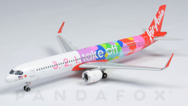 Air Asia Airbus A321neo 9M-VAA 3, 2, 1, Take Off Phoenix PH4AXM2006 Scale 1:400