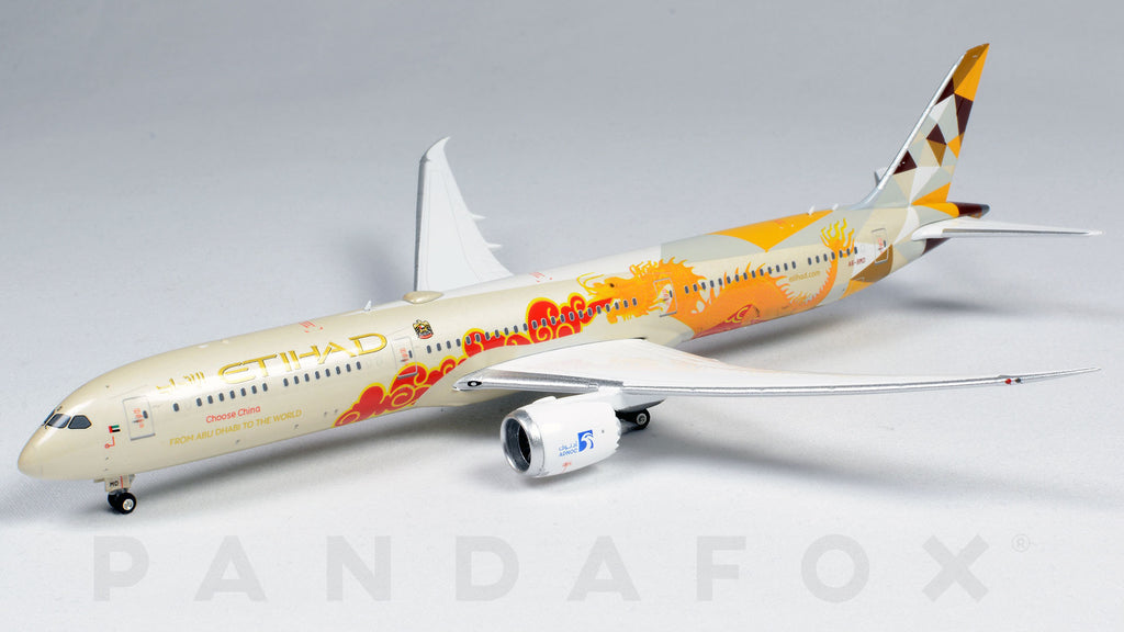 Etihad Airways Boeing 787-10 A6-BMD Choose China Phoenix PH4ETD2031 Scale 1:400