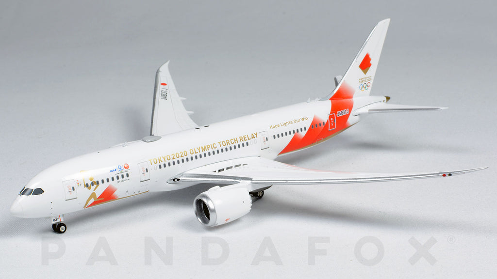 Japan Airlines Boeing 787-8 JA837J Tokyo 2020 Olympic Torch Relay Phoenix PH4JAL2029 Scale 1:400