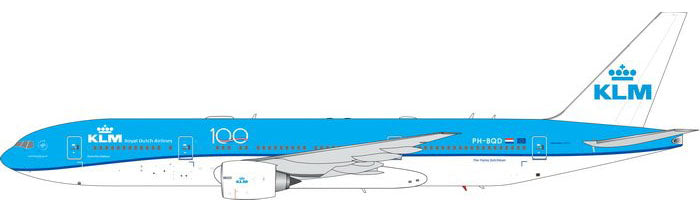 KLM Boeing 777-200ER PH-BQD 100th Anniversary Phoenix PH4KLM1976 Scale 1:400