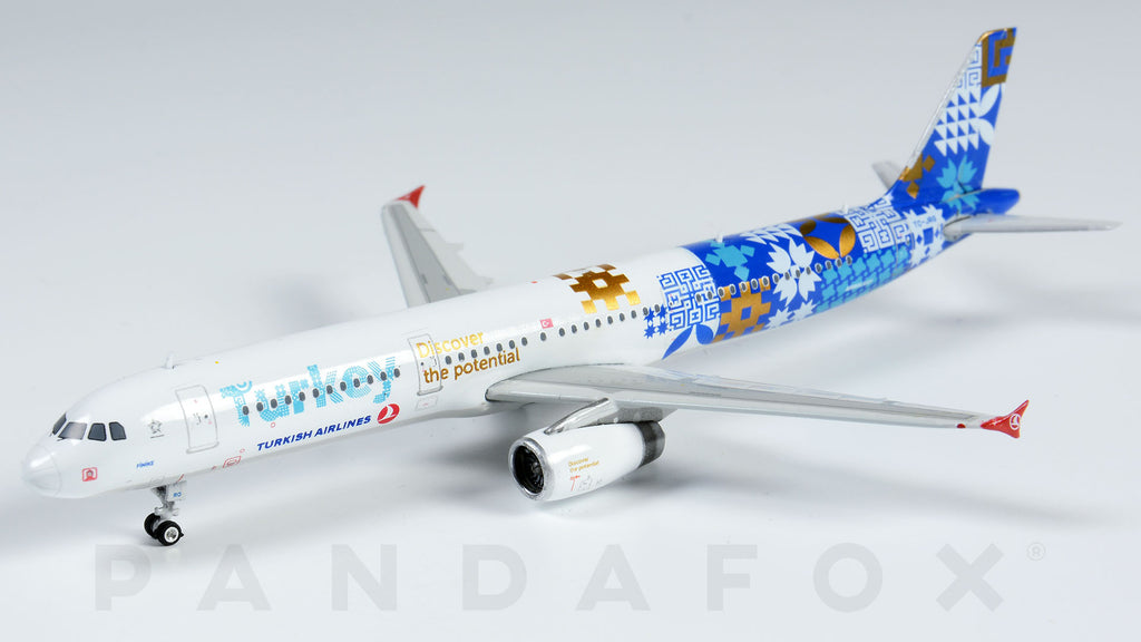 Turkish Airlines Airbus A321 TC-JRG Discover the Potential Phoenix PH4THY1441 Scale 1:400