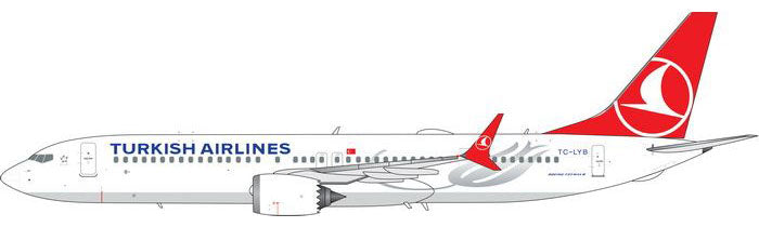 Turkish Airlines Boeing 737 MAX 9 TC-LYB Phoenix PH4THY1979 Scale 1:400