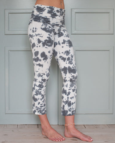 Half Moon pants white/grey