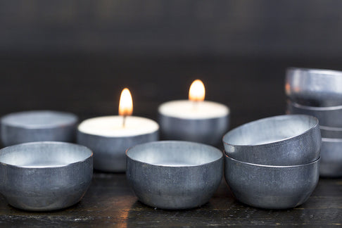 Reusable Tealight Tins by Terralite - Jewel and Lotus