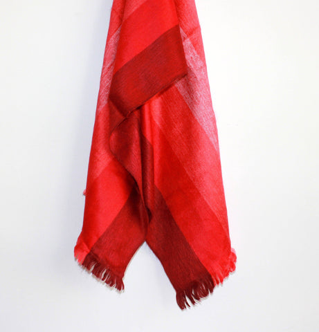 RED STRONG SCARF by SHICATO - Jewel and Lotus
