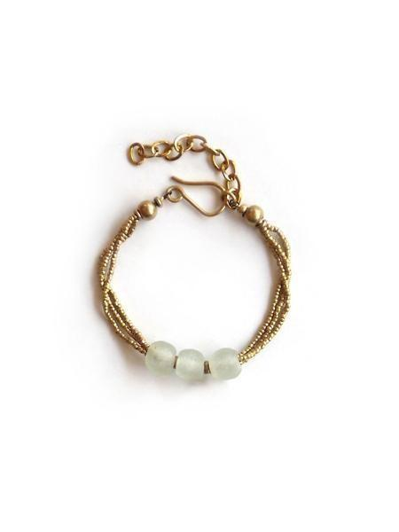 Anga Glass Tri-Bead Bracelet by Jimani Collections - Jewel and Lotus