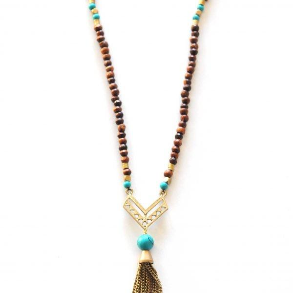 Bohemian Turquoise Necklace by The Didi Jewelry Project - Jewel and Lotus