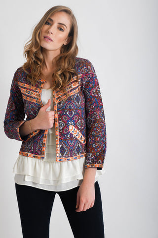 Rani Block Printed Jackets | Purple
