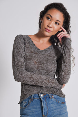 Melange Top | Grey