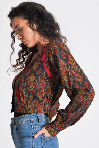 Maya Crop Shirt/Shrug