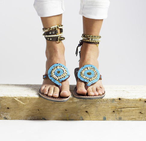 Bahari Blue Sandal by RoHo - Jewel and Lotus
