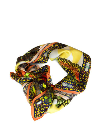 Barcelona Silk Charmeuse Scarf by Victoria Road - Jewel and Lotus