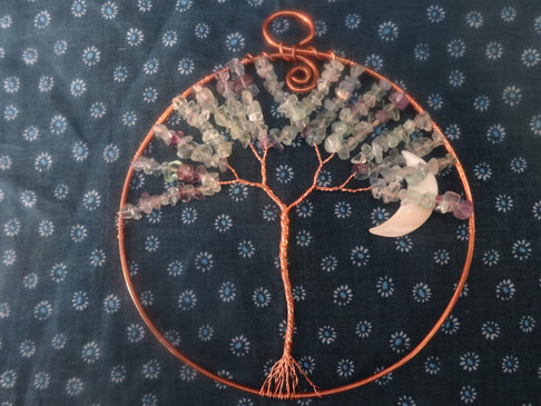Tree of Life Wall Hanging-Fluorite