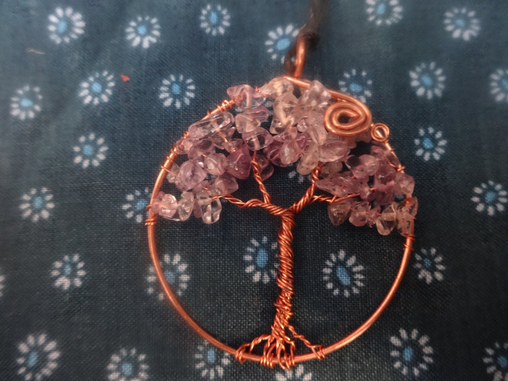 Tree of Life Pendant – Amethyst by Gem & Wander - Jewel and Lotus