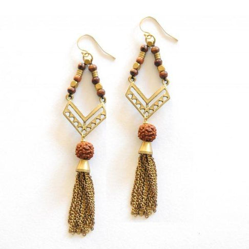 Bohemian Good Luck Seed Earrings by The Didi Jewelry Project - Jewel and Lotus