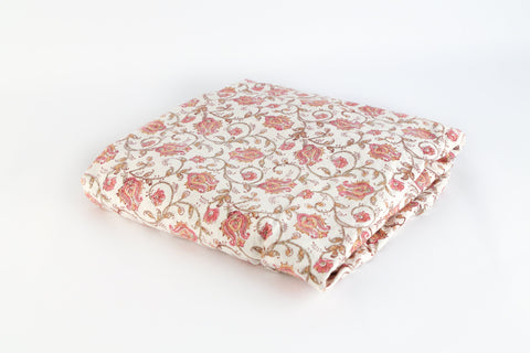 Fitted Bed sheet: PUSHPANJALI