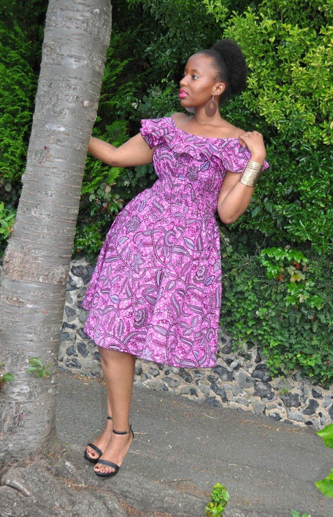 BALMA Short Dress by House of Afrika - Jewel and Lotus