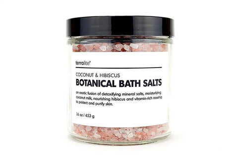 COCONUT & HIBISCUS Botanical Bath Salts by Terralite - Jewel and Lotus