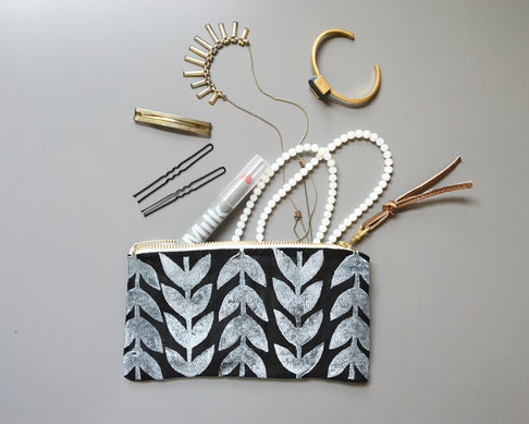 Athens Linen Pouch by Jenna Aliyah - Jewel and Lotus