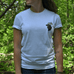 100% Organic Cotton Woodland Caribou Inspired Tee by Habitees - Jewel and Lotus