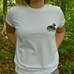 100% Organic Horned Grebe Inspired Tee by Habitees - Jewel and Lotus