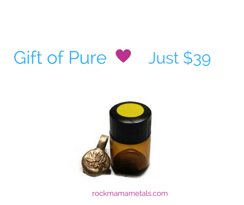 Aromatherapy Lotus Charm and Pure Essential Oils by Rock Mama Metals - Jewel and Lotus