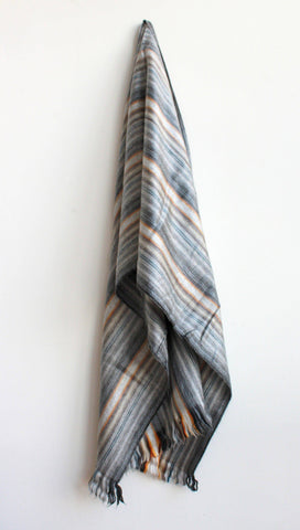 GRAY STRIPES SCARF by SHICATO - Jewel and Lotus