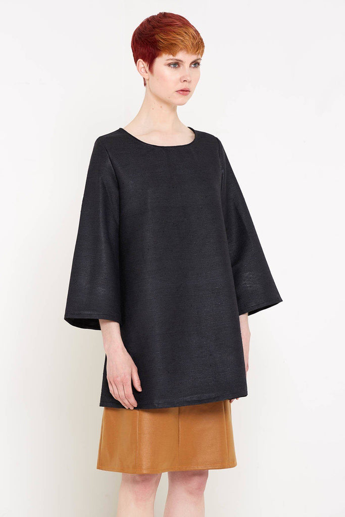 Bahar Tunic Top (Black) by Bo Carter - Jewel and Lotus