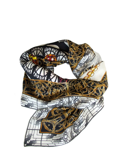 Paris Silk Charmeuse Scarf by Victoria Road - Jewel and Lotus