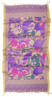Ahalaya Designer Cotton Silk Shawl by Parekh Bugbee - Jewel and Lotus