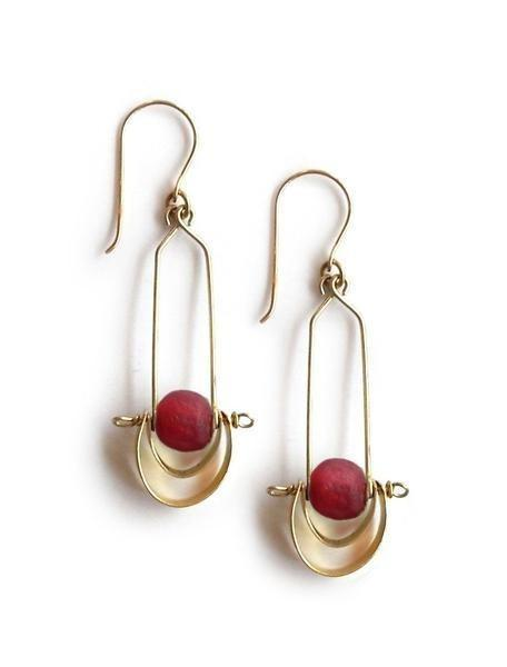 Bahari Cascading Brass Earrings by Jimani Collections - Jewel and Lotus