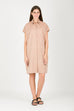Women's Oversized Shirt Dress | Organic Cotton Dress | Beige Dress