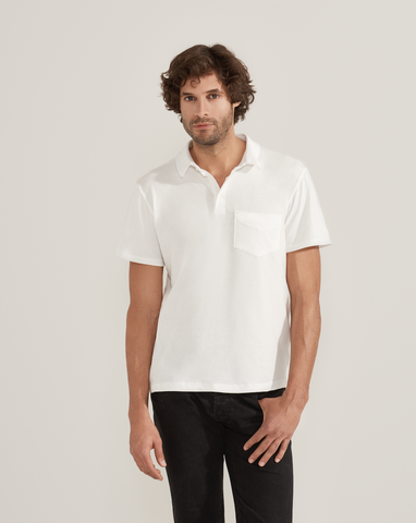 White Pocket Polo by HOPE Made in the World - Jewel and Lotus