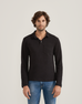 Black Long Sleeve Pocket Polo by HOPE Made in the World - Jewel and Lotus