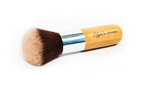 KABUKI BRUSH WITH VEGAN FIBERS by Olga's Organics - Jewel and Lotus
