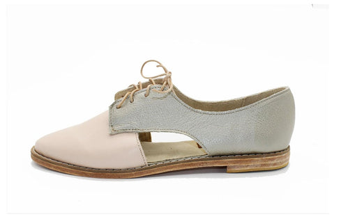 Benya Cut Out Oxford in Pink / Gold by Matsidiso - Jewel and Lotus