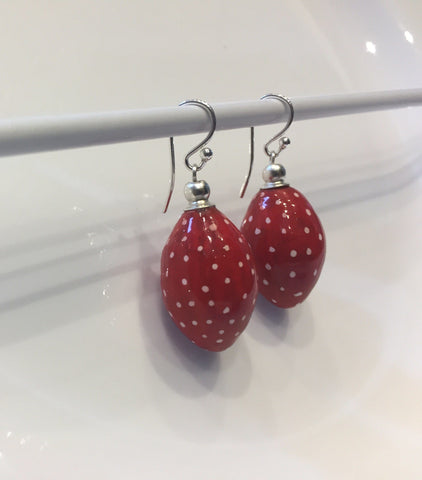 Adali (Red polka dot) by Emmerdale Beads - Jewel and Lotus