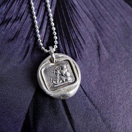 Anchor Wax Seal Necklace by Stacey Fay Designs - Jewel and Lotus